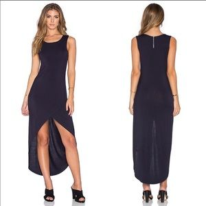 Bishop & Young Haley High Low Maxi Dress Navy Blue